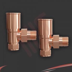 Angled Copper Valves for Radiators & Towel Rails (Pair)