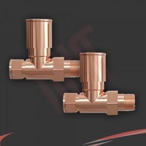 Straight Copper Valves for Radiators & Towel Rails (Pair)