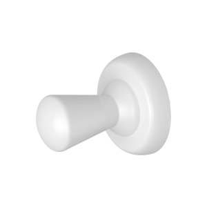 "White Magnetic ""Drop"" Robe/Coat Hanger (Heavyweight Magnet)"