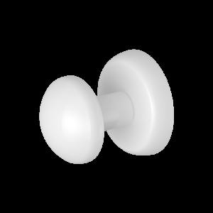 "White Magnetic ""Grip"" Robe/Coat Hanger (Heavyweight Magnet)"