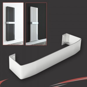 "Chrome Towel Bar for ""Cariad"" Double Vertical Aluminium Radiators"
