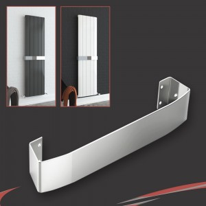 "Chrome Towel Bar for ""Cariad"" Single Vertical Aluminium Radiators"