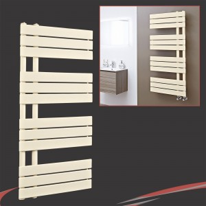 500mm (w) x 1200mm (h) Apollo Latte Heated Towel Rail