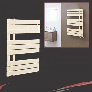 500mm (w) x 800mm (h) Apollo Latte Heated Towel Rail