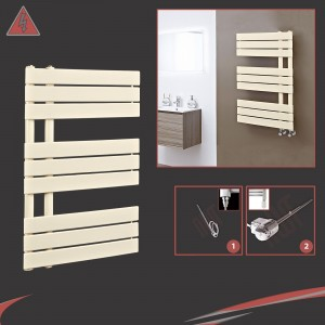 "500mm (w) x 800mm (h) Electric ""Apollo"" Latte Heated Towel Rail (Single Heat or Thermostatic Option)"