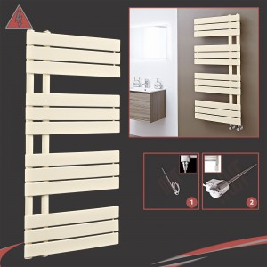 "500mm (w) x 1200mm (h) Electric ""Apollo"" Latte Heated Towel Rail (Single Heat or Thermostatic Option)"