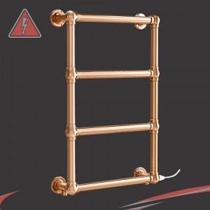 "500mm (w) x 750mm (h) ""Harley"" Copper Traditional Towel Rail (Single Heat)"