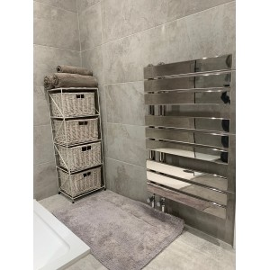 "500mm (w) x 800mm (h) ""Apollo"" Chrome Heated Towel Rail"