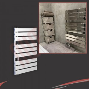 500mm (w) x 800mm (h) Apollo Chrome Heated Towel Rail