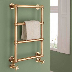 "500mm (w) x 750mm (h) ""Harley"" Copper Traditional Wall Mounted Towel Rail Radiator"
