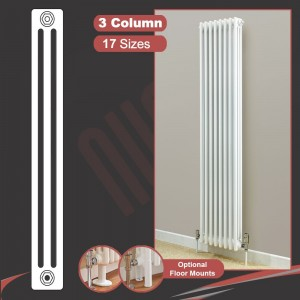 """Korona"" 3 Column Vertical Radiators (2 Sizes)"