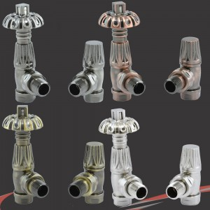 Traditional Gothic Styled Angled Thermostatic Radiator Valves