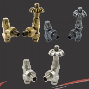 Traditional Umbrella Styled Angled Thermostatic Radiator Valves - 3 Finishes