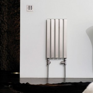 "Aeon ""Supra"" Single Designer Brushed Stainless Steel Radiators"