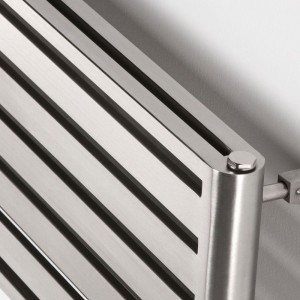 "Aeon ""Supra"" Double Designer Brushed Stainless Steel Radiators - Mounts Vertical OR Horizontal (13 Sizes)"
