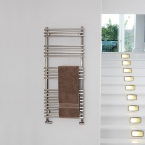 """Aeon """"Windsor"""" Brushed or Polished Stainless Steel Towel Rails (3 Sizes)"""