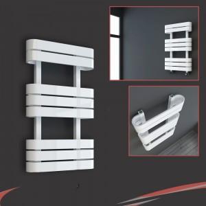 "500mm(w) x 850mm(h) ""Barlo"" White Designer Towel Rail"