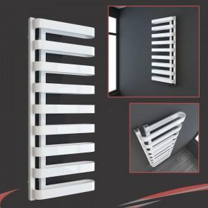 "500mm(w) x 1300mm(h) ""Barlo"" White Designer Towel Rail (Left or Right Install)"