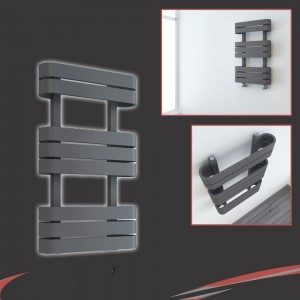"500mm(w) x 850mm(h) ""Barlo"" Anthracite Designer Towel Rail"