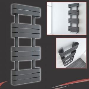 "500mm(w) x 1200mm(h) ""Barlo"" Anthracite Designer Towel Rail"