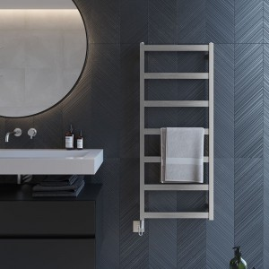 "Aeon ""Calder"" Designer Brushed or Polished Stainless Steel Towel Rail"