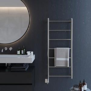 "Aeon ""Econox"" Designer Brushed or Polished Stainless Steel Towel Rail"