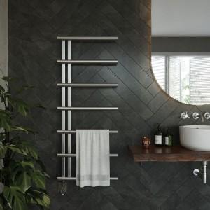 "Aeon ""Vera"" Designer Brushed or Polished Stainless Steel Towel Rail"