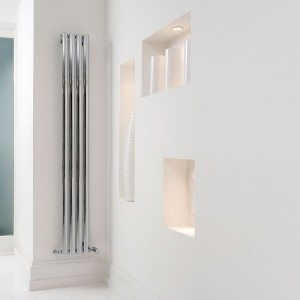 "Aeon ""Sofi"" Designer Polished Brushed Stainless Steel Towel Rail"