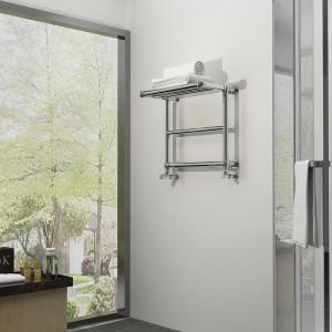 "Aeon ""Saluta"" Designer Polished Brushed Stainless Steel Towel Rail"