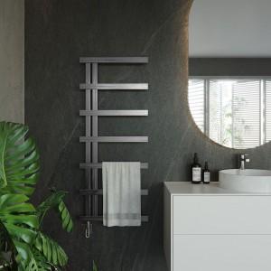 "Aeon ""Stile"" Designer Brushed or Polished Stainless Steel Towel Rail"
