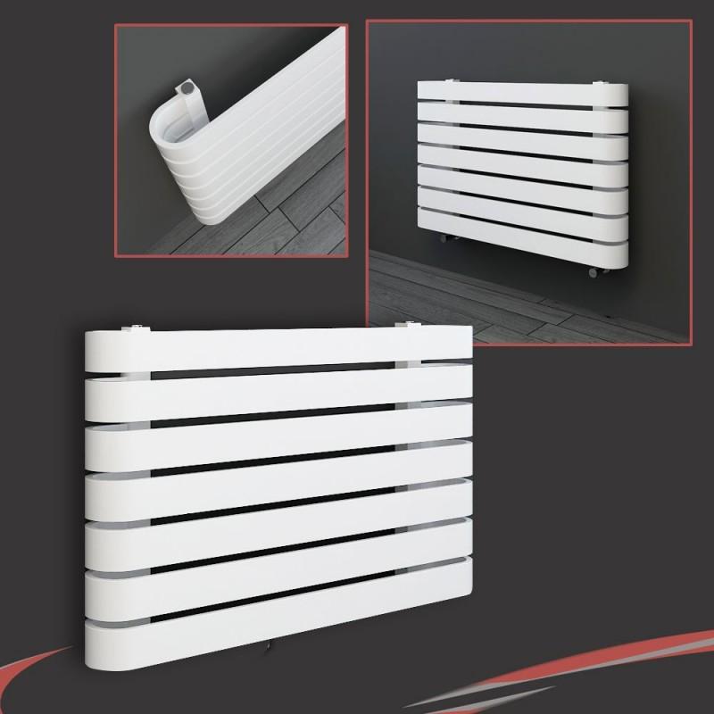 "800mm(w) x 500mm(h) ""Barlo"" White Designer Horizontal Radiator (7 Sections)"