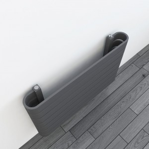"800mm(w) x 500mm(h) ""Barlo"" Anthracite Designer Horizontal Radiator (7 Sections)"