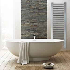 """Aeon """"Meridien"""" Designer Brushed Stainless Steel Towel Rail"""