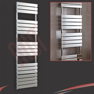 500mm x 1800mm Vega Chrome Heated Designer Towel Rail Towel Warmer Radiator