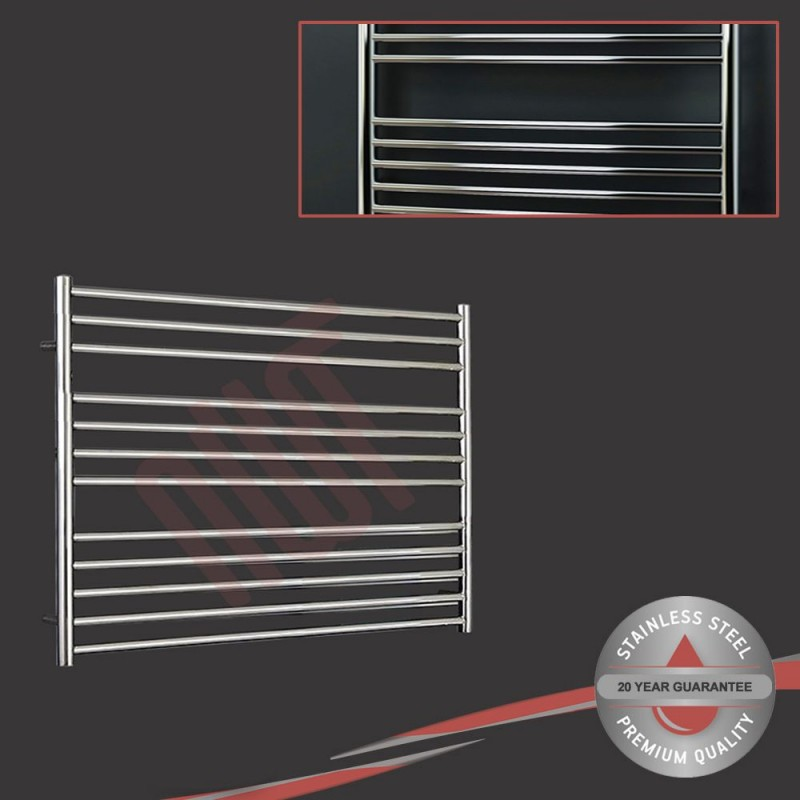 1000mm (w) x 800mm (h) Polished Stainless Steel Towel Rail