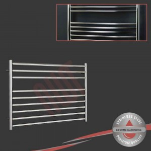 "1000mm (w) x 600mm (h) Polished Straight ""Stainless Steel"" Towel Rail"