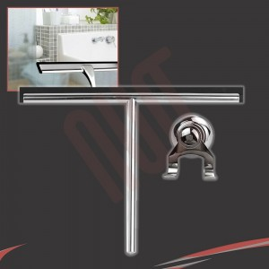 250mm(w) Stainless Steel Wetroom Shower Glass Squeegee (Design G2) + Suction Hanger