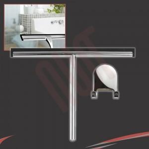250mm(w) Stainless Steel Wetroom Shower Glass Squeegee (Design G9) + Sticky Hanger