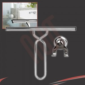 250mm(w) Stainless Steel Wetroom Shower Glass Squeegee (Design G5) + Suction Hanger