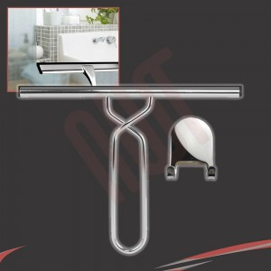 250mm(w) Stainless Steel Wetroom Shower Glass Squeegee (Design G5) + Sticky Hanger