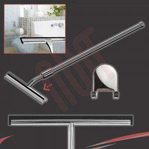 260mm(w) Extendable Stainless Steel Wetroom Shower Glass Squeegee (Design G20) + Sticky Hanger