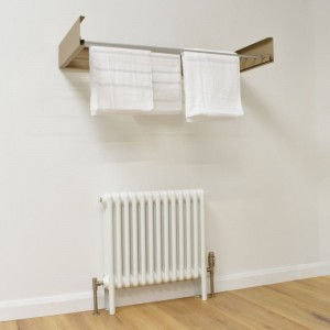 Foldable Wall Mounted Towel Hanger - Cappuccino