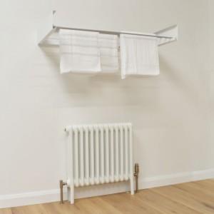 Foldable Wall Mounted Towel Hanger - White