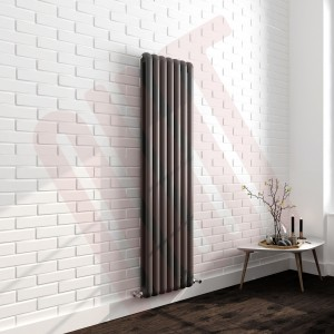 437mm (w) x 1800mm (h) Elias Anthracite Vertical Column Radiator (7 Sections)