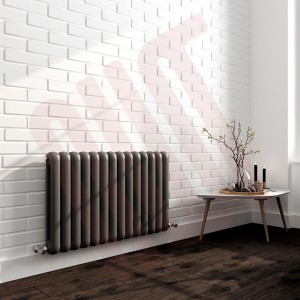 853mm (h) x 600mm (w) Elias Anthracite Horizontal Column Radiator (14 Sections)