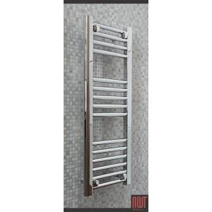 300mm (w) x 800mm (h) Single Heat Straight Chrome Towel Rail