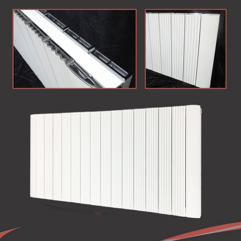 "1500mm (w) x 500mm (h) ""Cariad"" Double Panel White Horizontal Aluminium Radiator (32 Extrusions)"