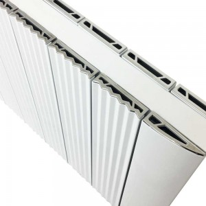 "560mm (w) x 500mm (h) ""Cariad"" Double Panel White Horizontal Aluminium Radiator (12 Extrusions)"