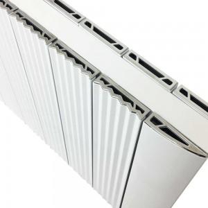 "560mm (w) x 500mm (h) ""Cariad"" Double Panel White Horizontal Aluminium Radiator (12 Extrusions)"