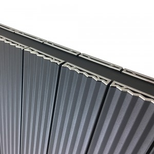 "560mm (w) x 500mm (h) ""Cariad"" Double Panel Anthracite Horizontal Aluminium Radiator (12 Extrusions)"